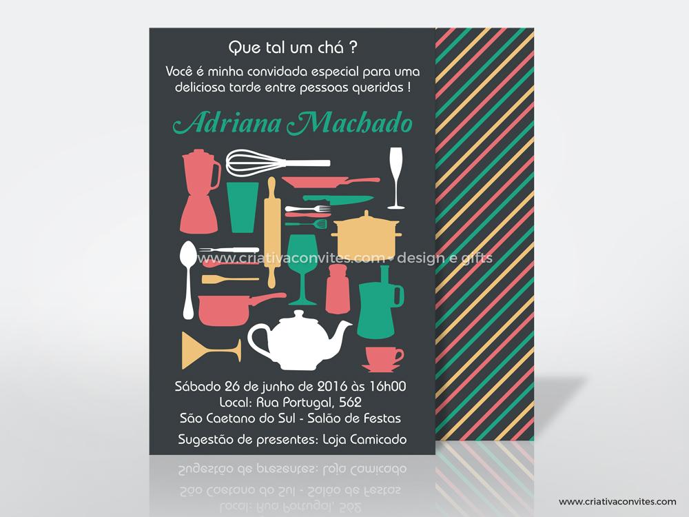 Convite para chá de panela
