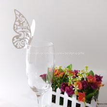 Enfeite de taça casamento borboleta