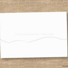 Envelope para convite de casamento branco onda