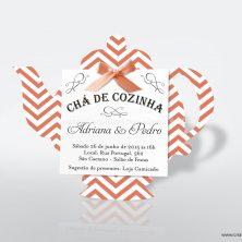 Convite chá de panela cozinha chaleira