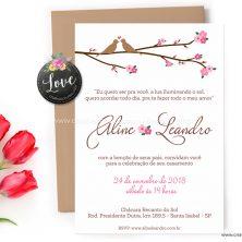 Convite de casamento campo rústico campestre