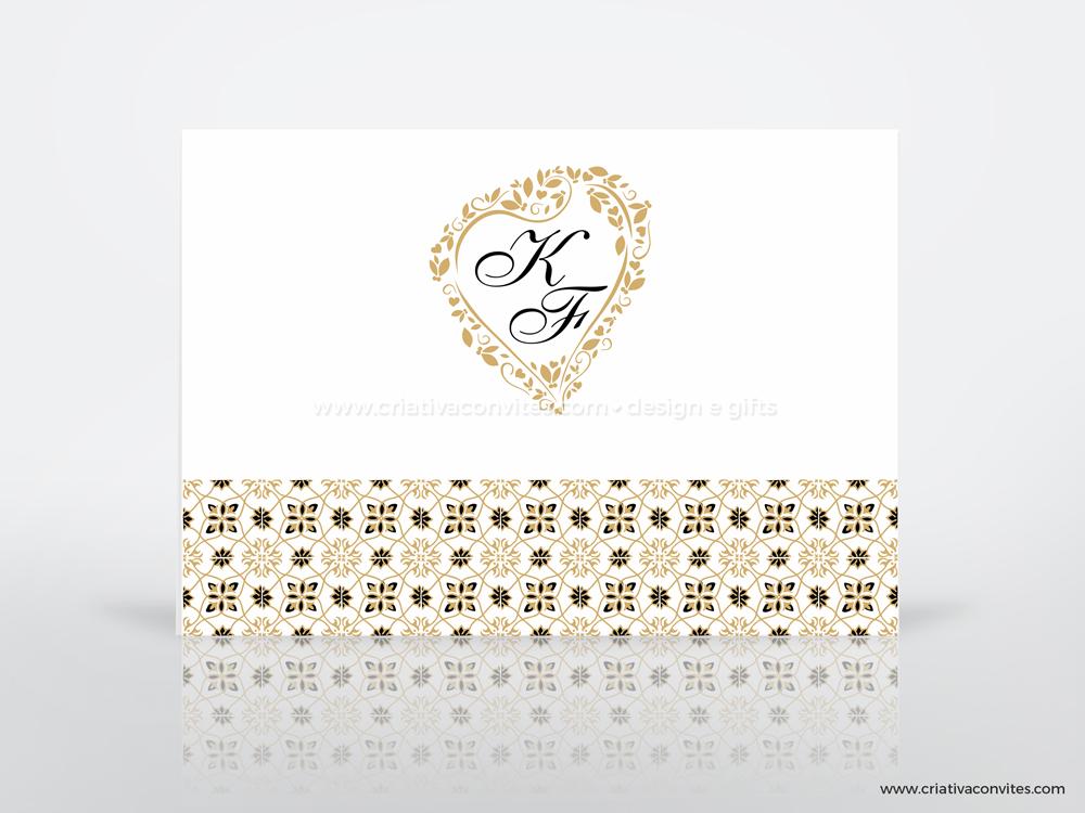 Convite de casamento clássico azulejo português