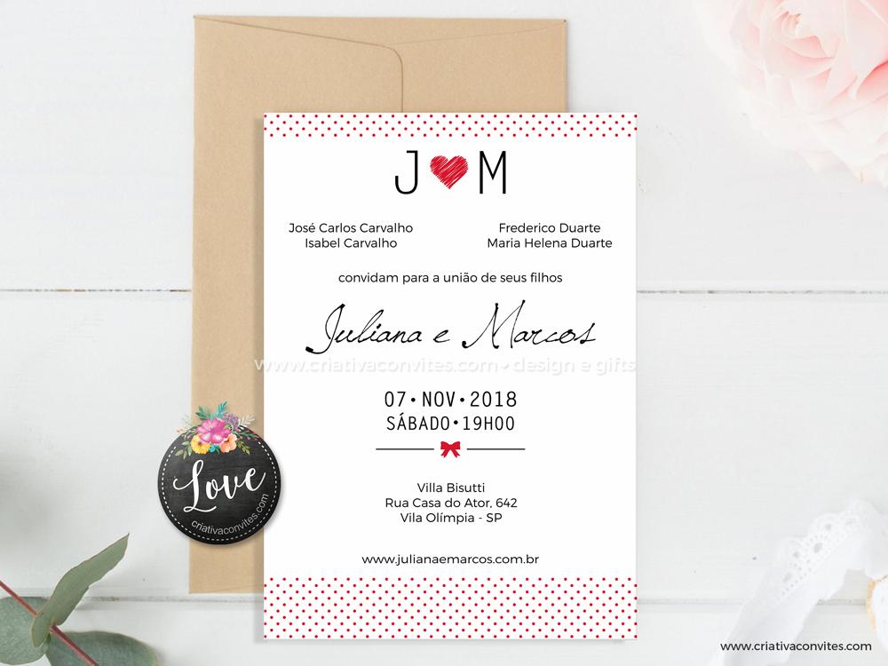Convite de Casamento Sempre Com Você