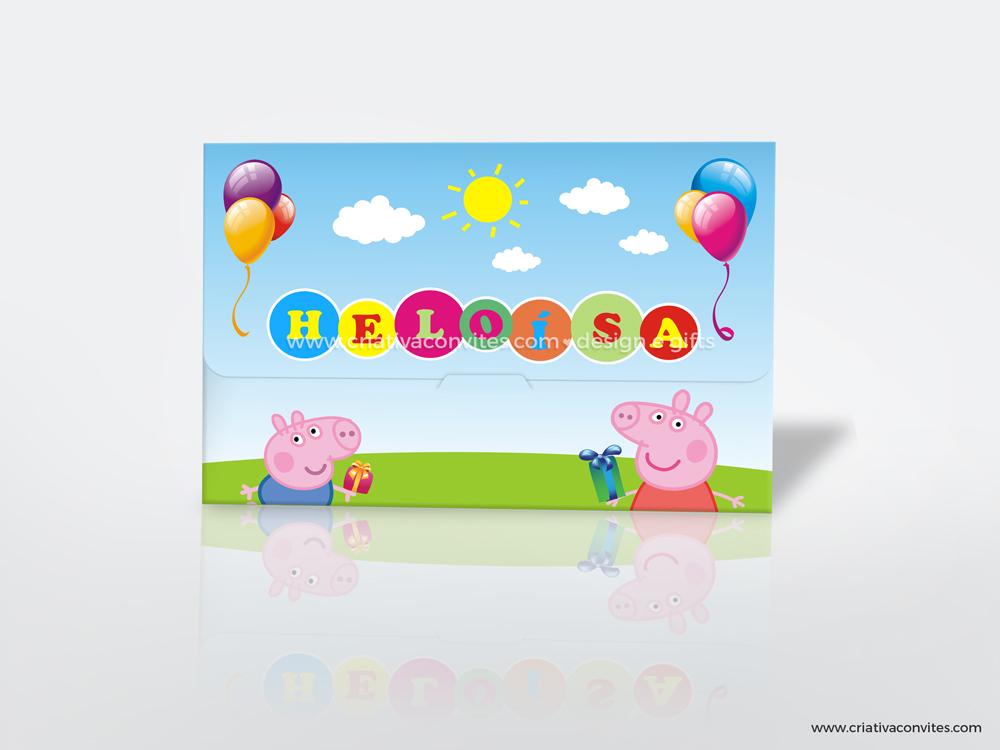 Convite infantil kids tema Peppa Pig