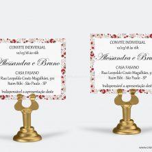 Convite individual casamento encontro