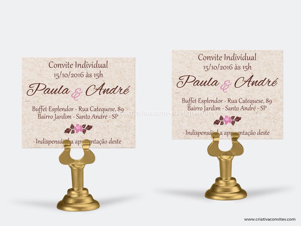 Convite individual cerejeira
