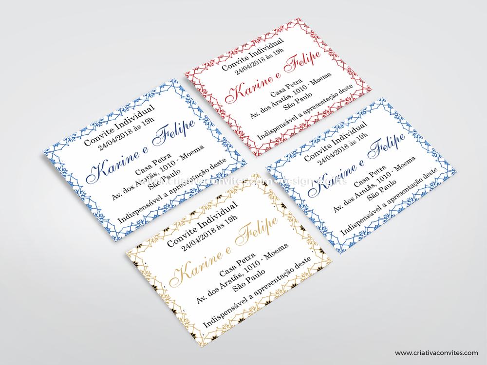 Convite individual clássico azulejo português