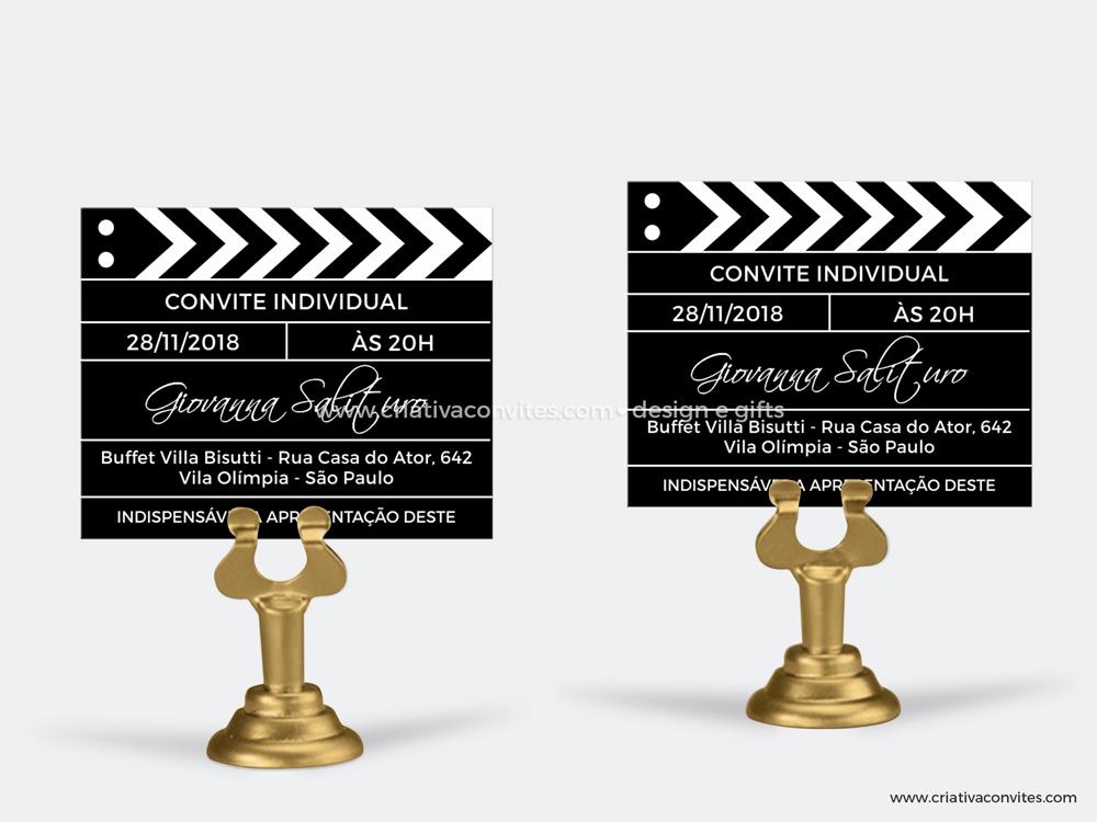 Convite individual debutante 15 anos hollywood