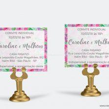 Convite individual floral Amor sem Fim