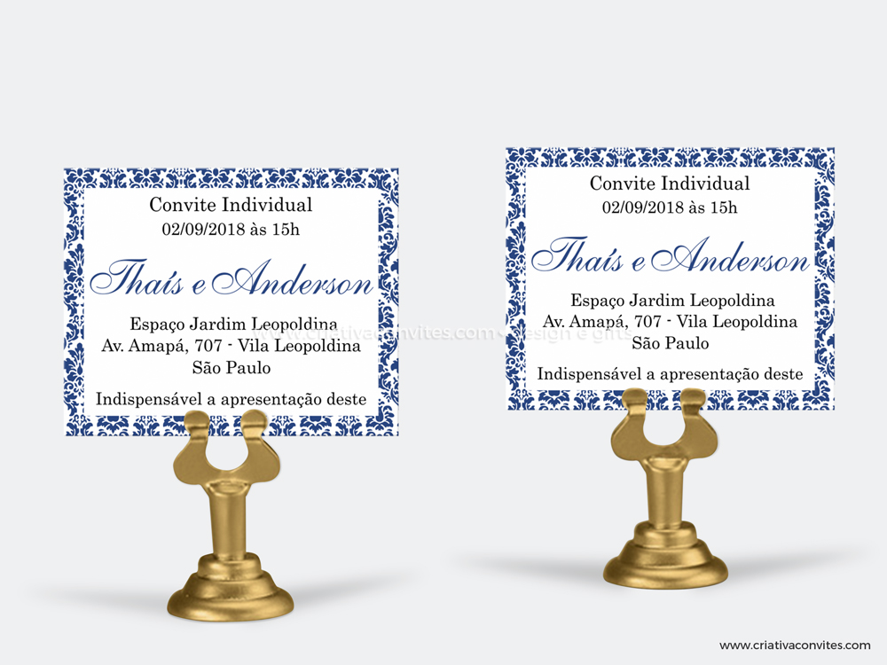 Convite individual monograma
