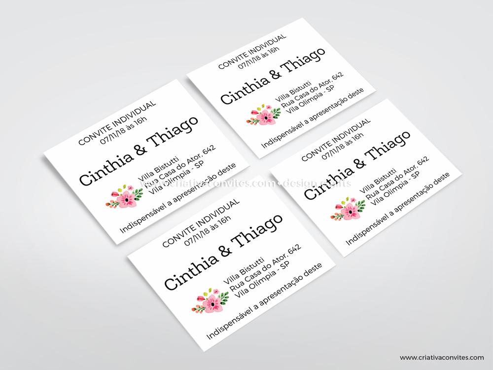 Convite individual nossas flores