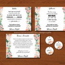 Convite Padrinhos Casamento Personalizado