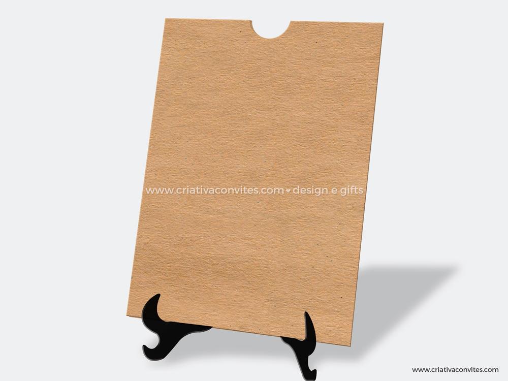 Envelope para convite de casamento rústico kraft fiori