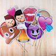 Kit festa casamento debutante whatsapp placas emoji