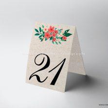 Marcador de mesa casamento rústico chique