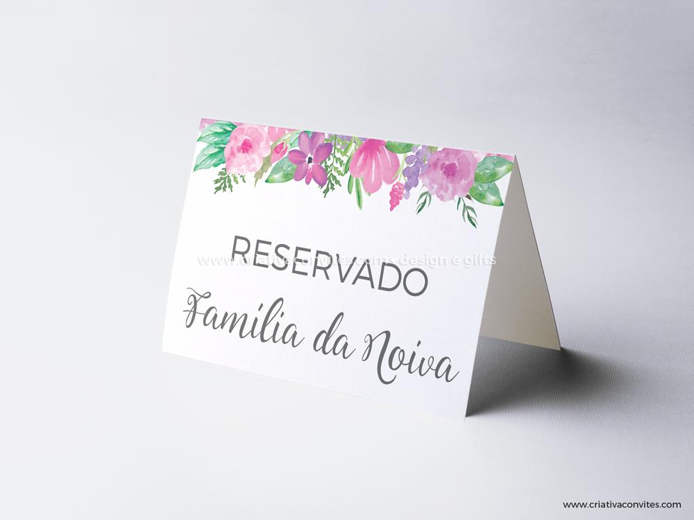 Reserva de mesa casamento Amor sem Fim
