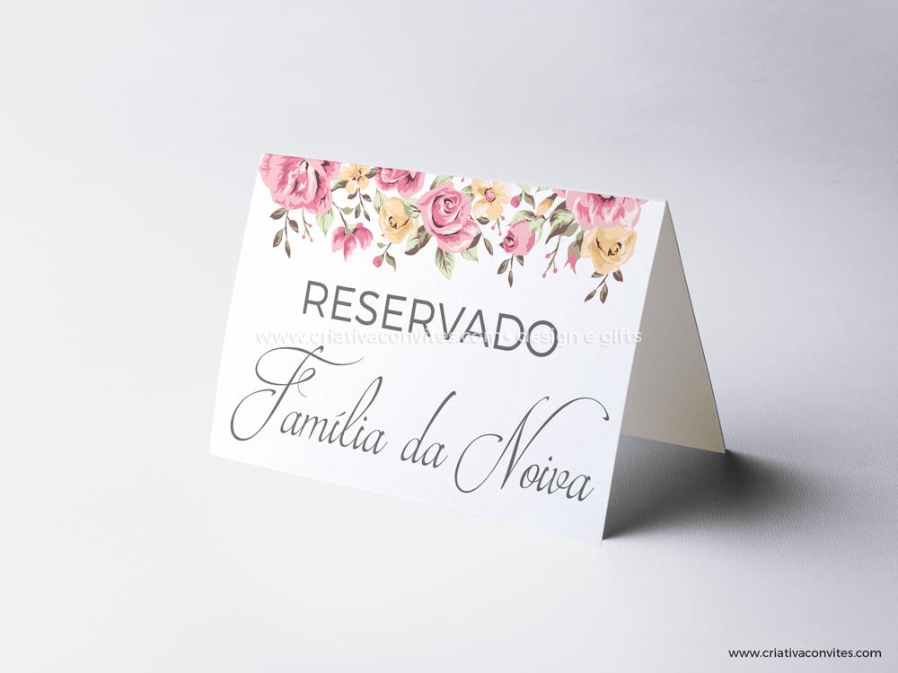 Reserva de mesa casamento grande sonho