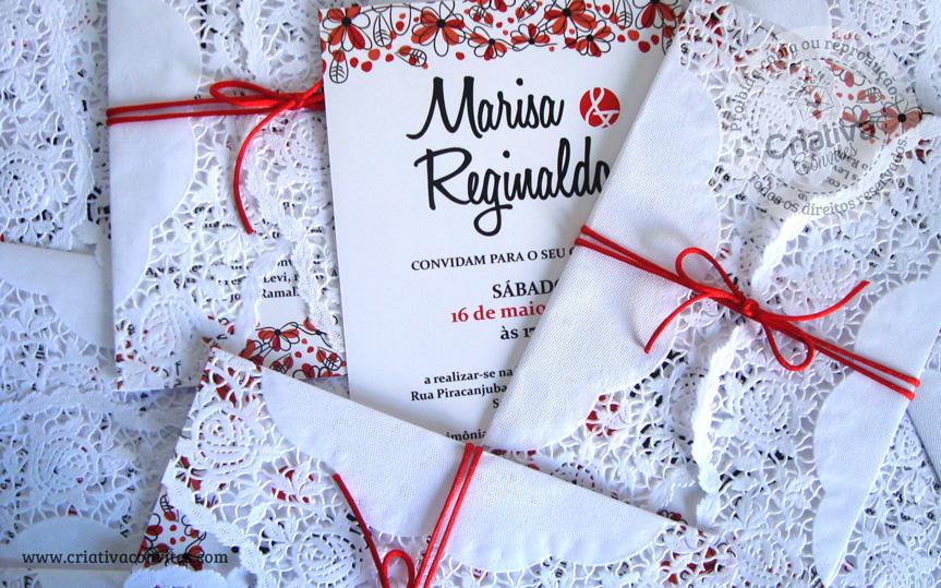 Convite Rendado Marisa e Reginaldo