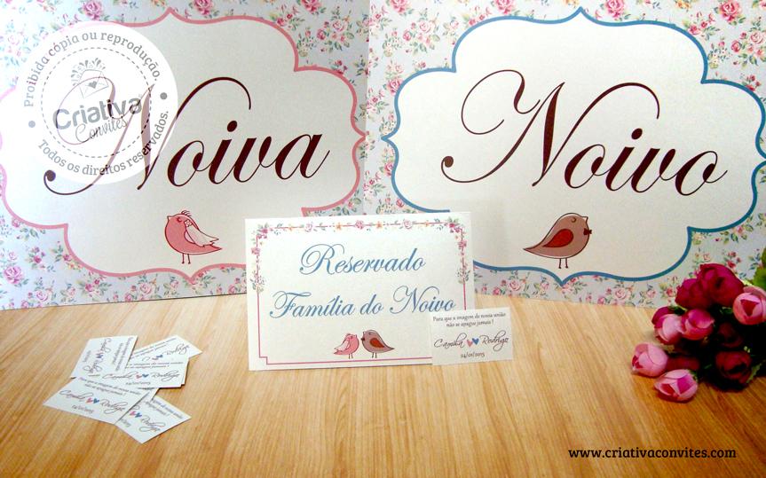 Papelaria de Casamento Camila e Rodrigo