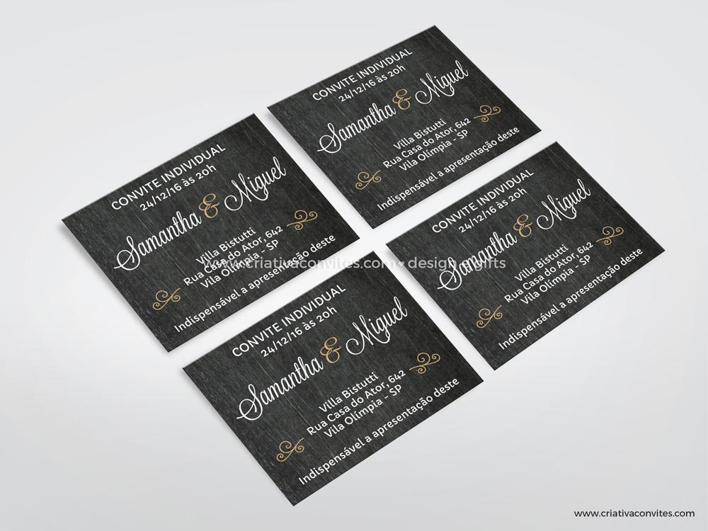 Convite individual Lousa de Giz