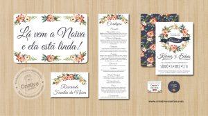 Papelaria Identidade Visual Casamento Par Perfeito Criativa Convites