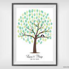 Quadro de assinaturas casamento guestbook Árvore