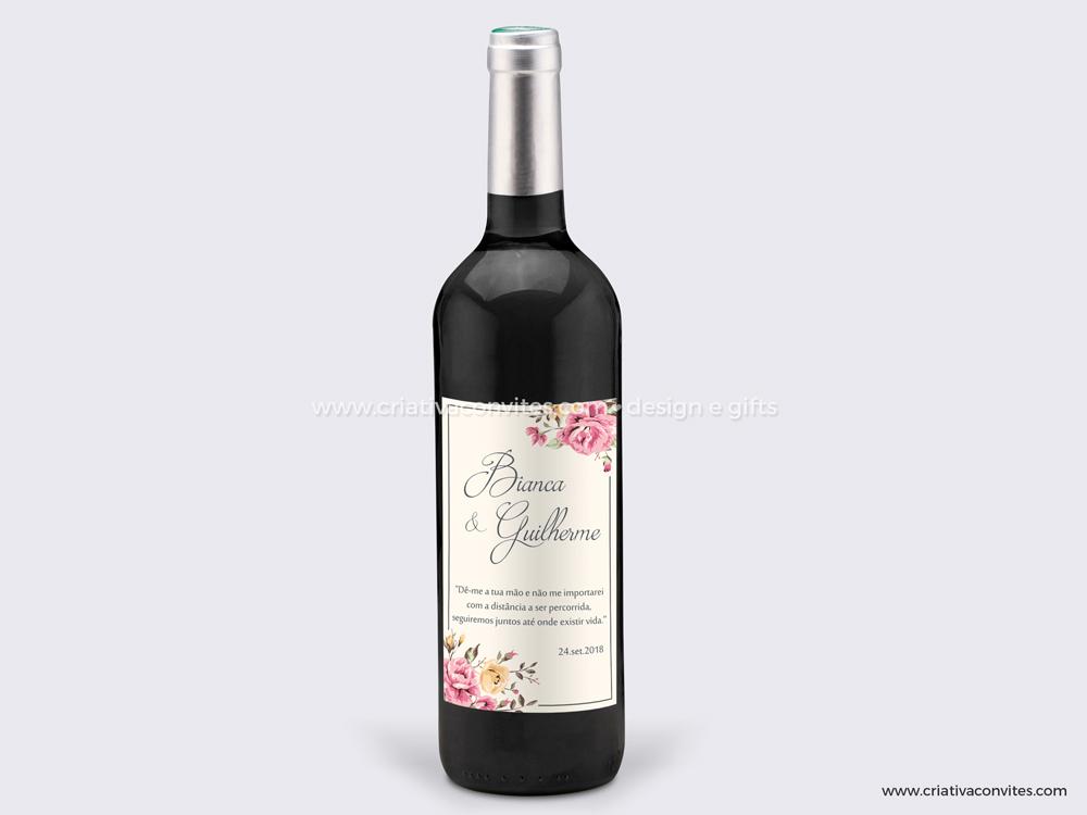 Rótulo adesivo para garrafa de vinho Grande Sonho