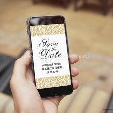 Save the date arte digital convite casamento Requinte