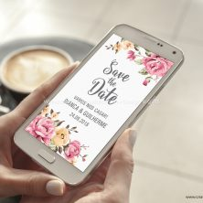 Save the date arte digital convite casamento Grande Sonho