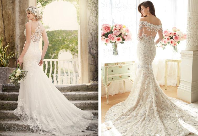 Vestido de noiva cauda de sereia