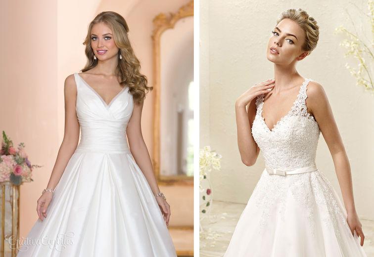 Vestido de noiva decote em V