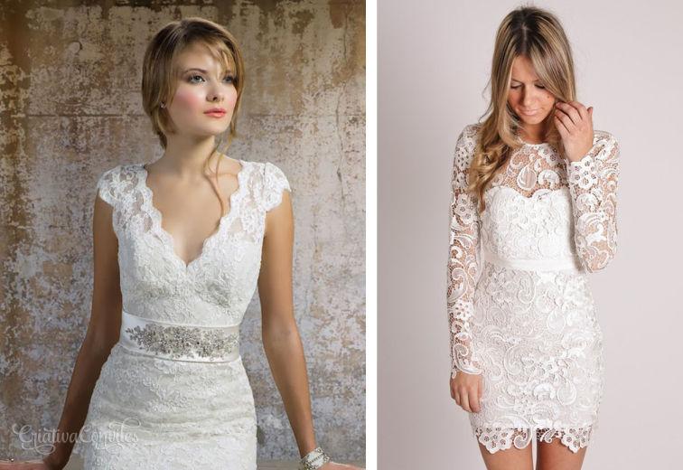 Vestido de noiva tubinho