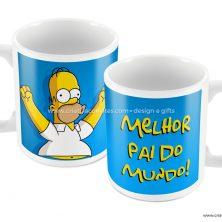 Caneca presente dia dos pais os simpsons Homer